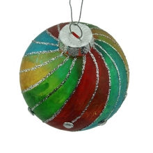 Guangdong Factory produce color glass ball Inside painted outside painted christmas ball
