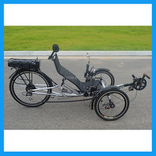Luxury Ultimate Three Wheels Keep Fit Gym Exercise Road Electric Recumbent Tricycle