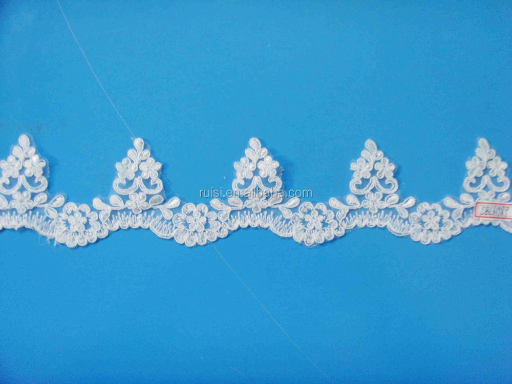 Latest Guipure Embroidery Lace Fabric for Dresses SBL61989C