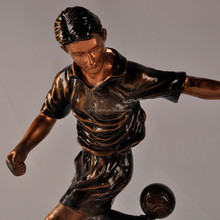 Man playing football sports custom resin trophy figure