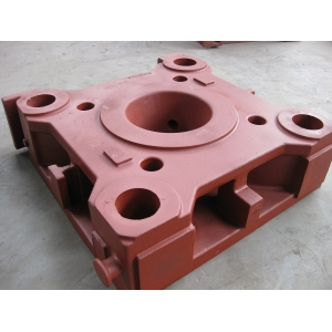 Platen iron casting for injection molding machine or die-casting machine