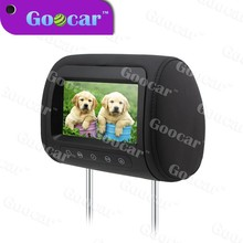 Wholesale lcd tv manafacture Car headrest TFT LCD pillow monitor with fm transmitter