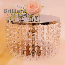 10 inch Wedding decoration Centerpiece steel Crystal bead Cake Stand