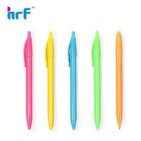 Plastic Retractable slim ball point pen with slim triangle barrel