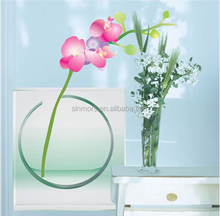 China supplier flower adhesive removable ceramic wall tile stickers decals