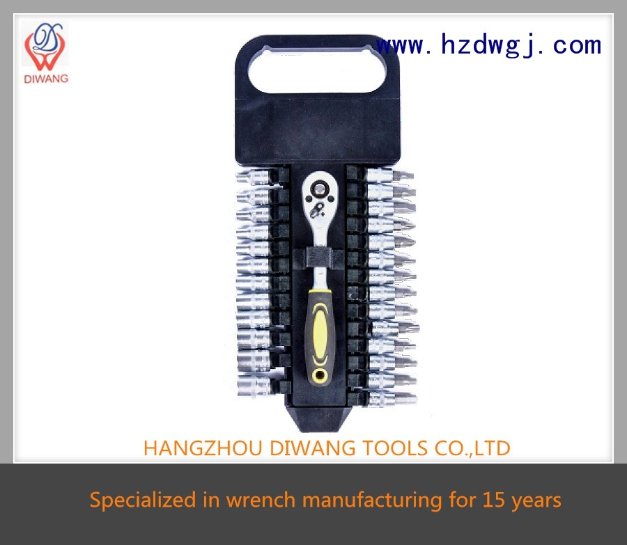"high torque cheap gearwrench 27pcs repairing tools set (1/4"")"