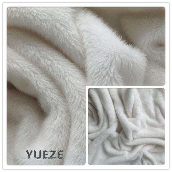 100% polyester knitted long pile faux fur fabric for toys blanket garment