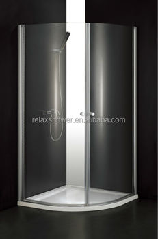 2017 Hot sale Relax curved glass shower screen with low price