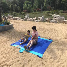 Factory direct sale nylon waterproof pocket beach mat/beach blanket