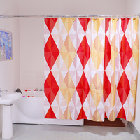Factory Wholesale Custom Printed 100% Polyester Colorful Bath Shower Curtain