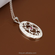 Wholesale fashionable latern indian style oval sterling silver filigree pendant