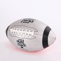 soft pu/pvc leather pink/red/plain american football on sale