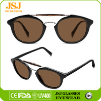 Top Quality Acetate Semi Rimless Sunglasses