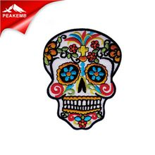 Embroidered Patches custom No minimum skull design Patch embroidery