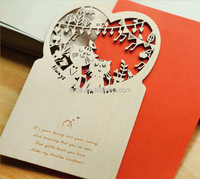 Wooden Wedding Invitation Card,Now Fashion Post Card