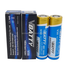 wholesale big capacity 3000mah battery 3.7v IMR18650 battery Cylaid 40amp Vbatty 18650 battery