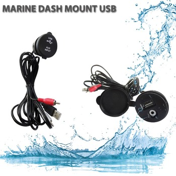 Outdoor Waterproof Boat Marine Yacht AUX USB Plastic Extension Cable Adapter