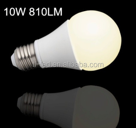 2015 POP and cheap LED Bulb Light A60 10W 810LM Manufacturer, LED Lamp E27 CRI80 270degree Factory, Look for wholesales