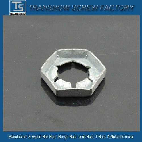 Galvanized high quality DIN7967 tight nut / Pal nut