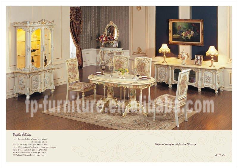 Soggiorno mobili classici camera- mobili in stile francese tavolo ...