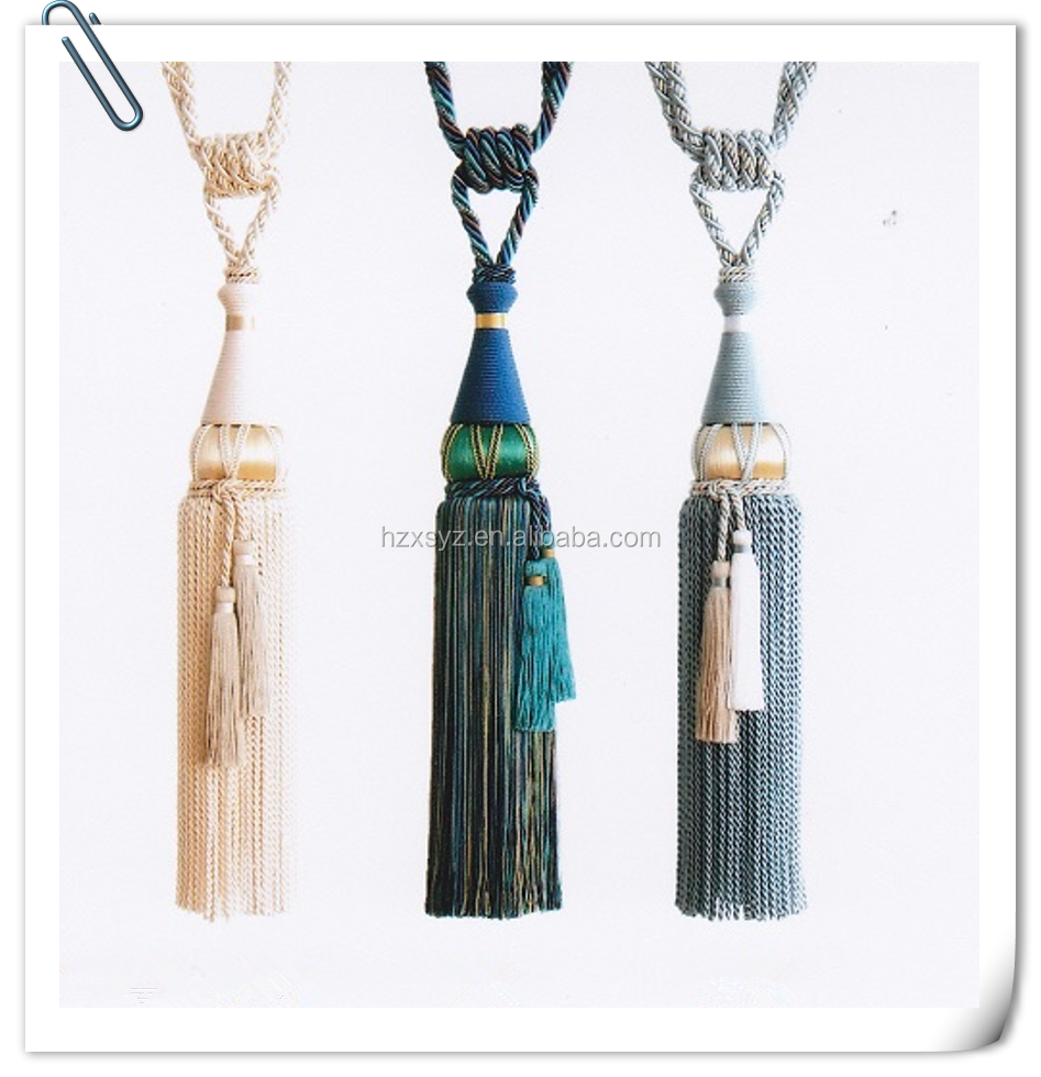 Factory Wholesale China Product High Quality Rayon Curtain Tassel