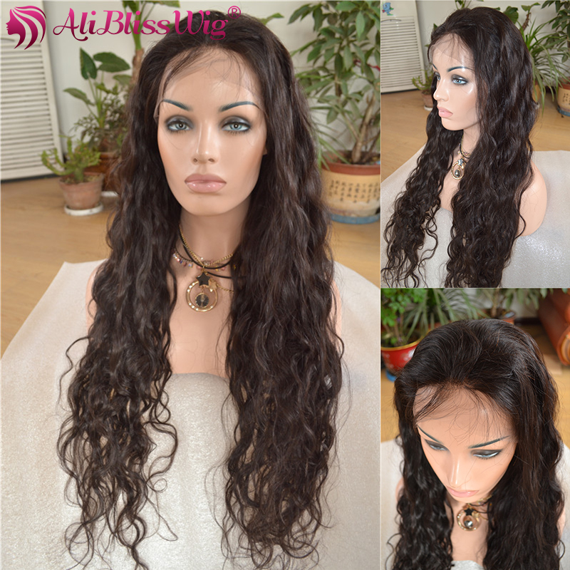 Large Stock Glueless Elastic Band Natural Hairline Deep Body Wave Indian Women Topper Full Lace Human Hair Wig with Baby Hair