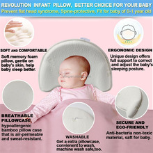 anti roll memory foam sleeping support baby pillow wedge size flat head