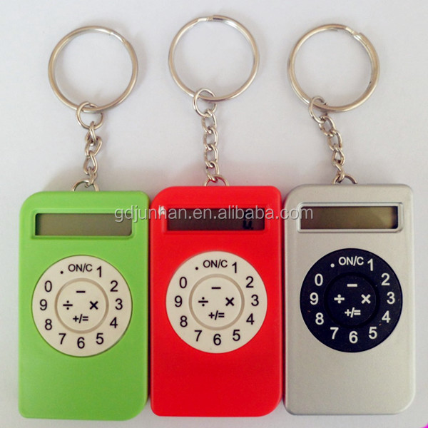 Promotional calculator with key chain