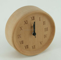 Hot sale small wooden stand clock