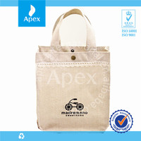 White recyclable shopping cotton bag
