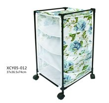 White canvas non woven fabric clothes rack