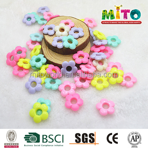 DIY art non toxic decorative acrylic flower beads