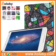 Tri-fold Colorful Painting PC+ PU Leather Case for Lenovo Tab 2 A8-50F