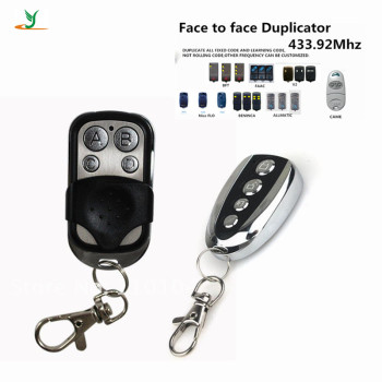 High quality universal 433Mhz Garage Door auto Gate copy rf self-learning remote control duplicator transmitter YET026