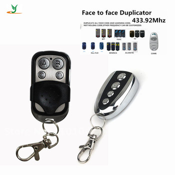 High quality universal 433Mhz copy rf self-learning remote control duplicator for Garage Door auto Gate transmitter YET026