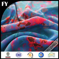 Zhejiang custom digital printed 100% fabric silk batik