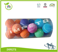 Tennis dog toy,high standard strong pet toy,wholesale training dog tennis ball