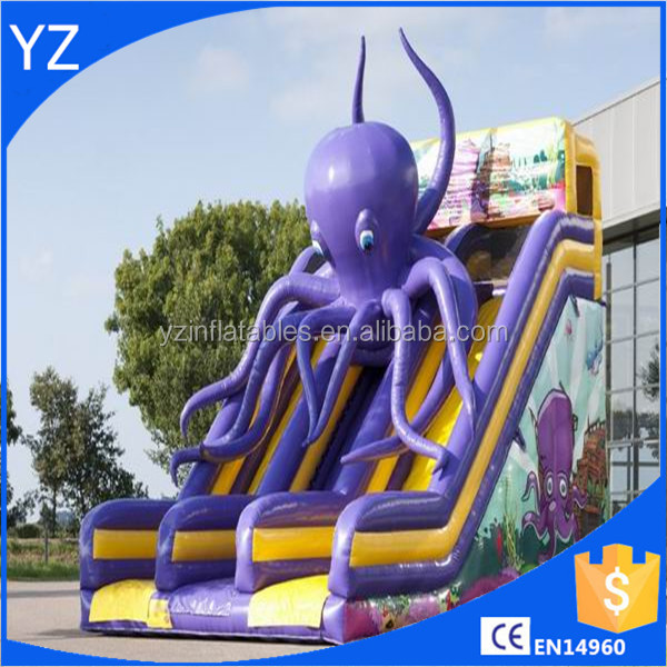 Inflatable Large Octopus slide For Sale