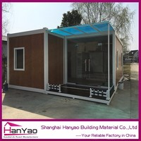 Mobile Kitchen Container Modular Prefabricated Finished Prefab Tiny House Fold Out Shipping Container Houses