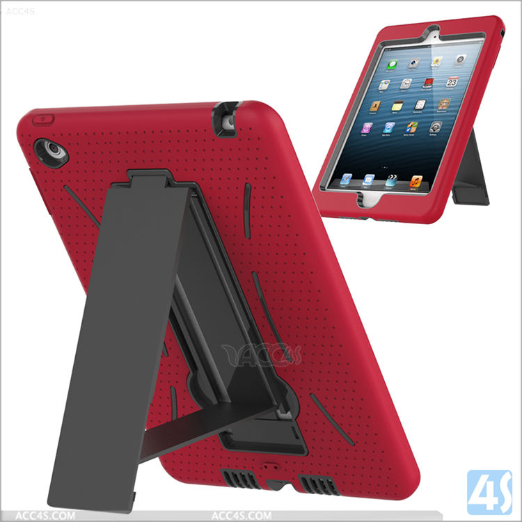 Kickstand hard case for Ipad mini 4, back stand case for Ipad mini 4