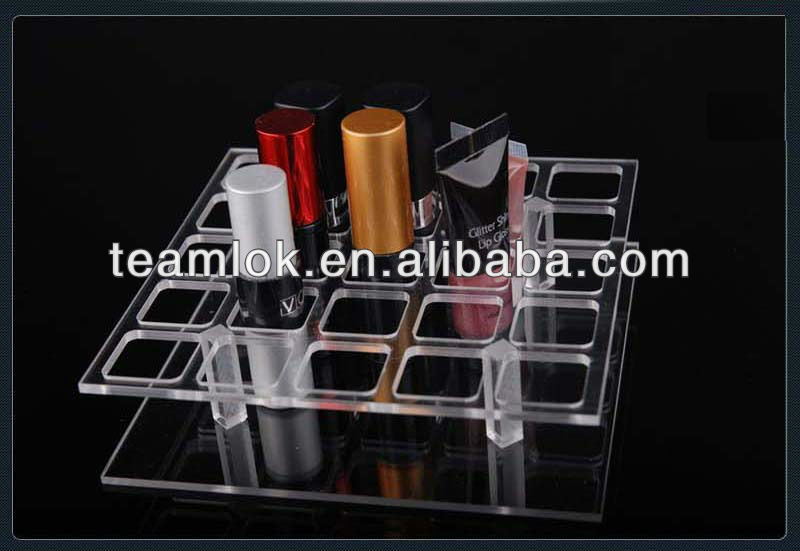 Acrylic 25 Lipstick Gloss Makeup Cosmetic Stand Display Rack Organizer Holder