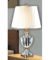 CE/SASO K9 crystal and brass table lamp