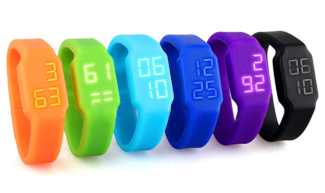 Multi-functional band flash drive led watch usb key color 8gb