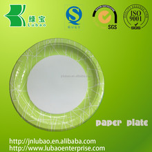 paper party plate with laminated