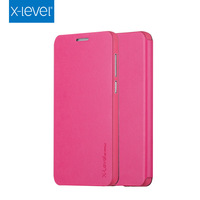X-LEVEL China Good Factory Wholesale Pink PU Leather Flip Case Mobile Phone Case for Honor 4X