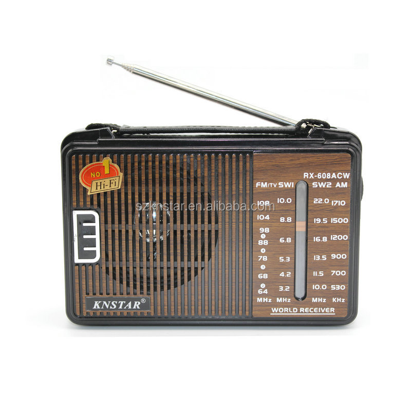 Portable Vintage Radio with AC DC Power Supply