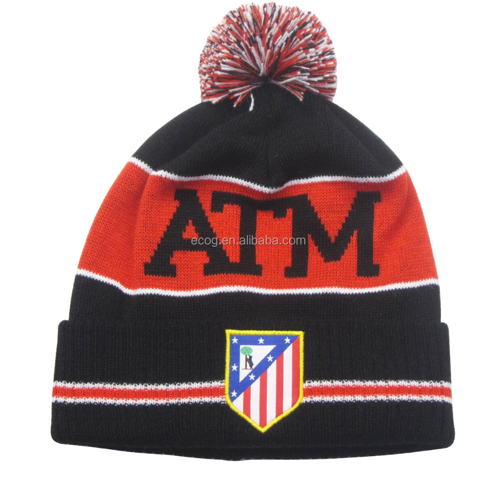 Atletico de Madrid fans club acrylic knit beanies winter <strong>hats</strong>