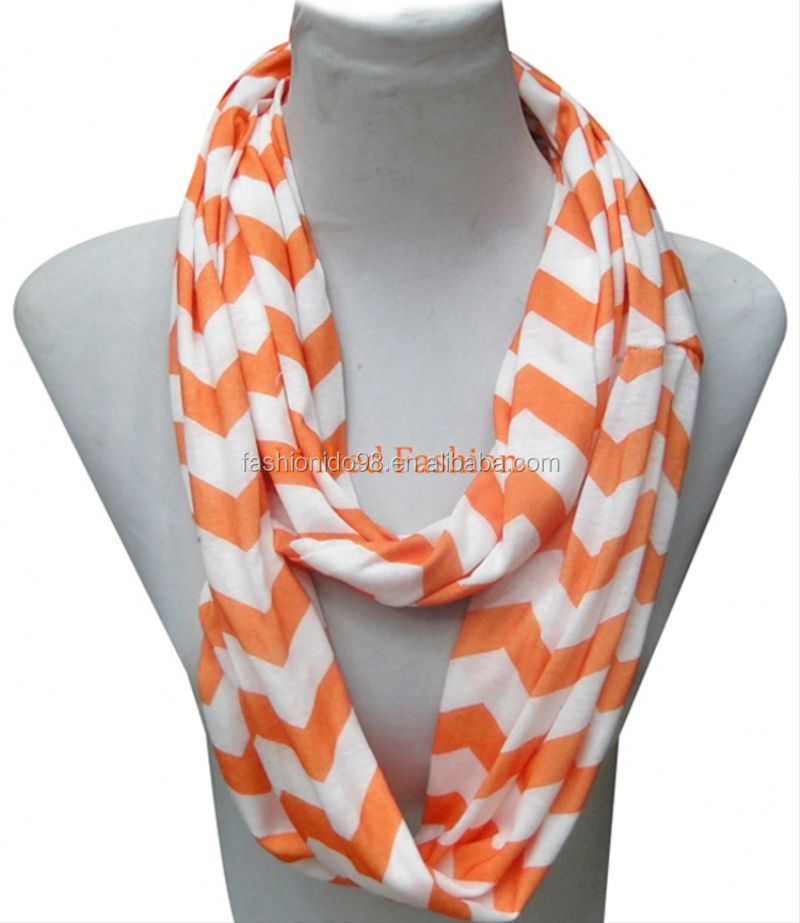 Supplier in Yiwu nursing scarf wholesale 100% polyester chevron breastfeeding scarf