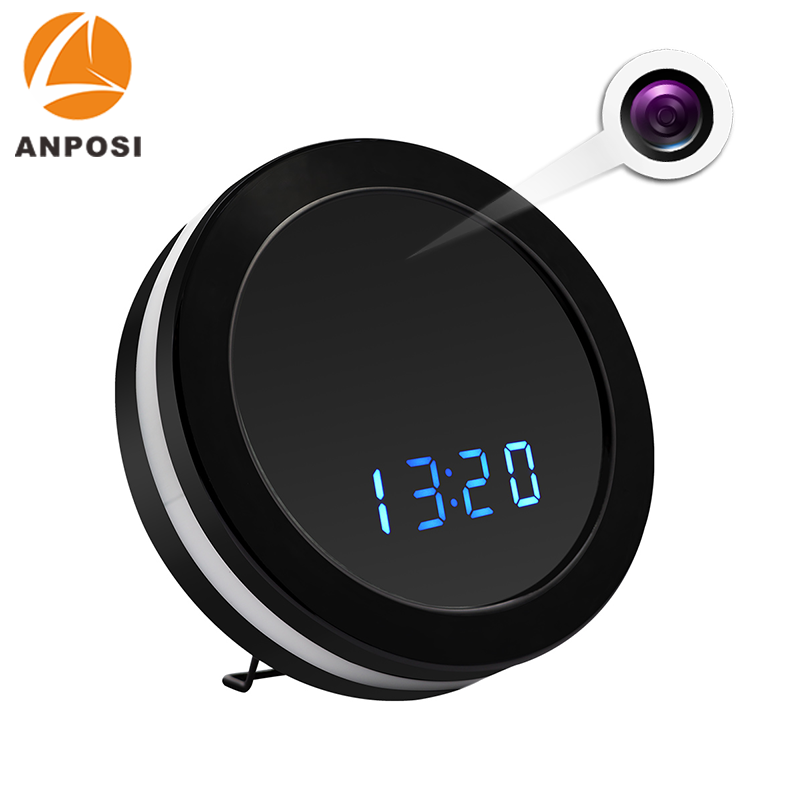 Professional wireless table clock hidden camera indoor