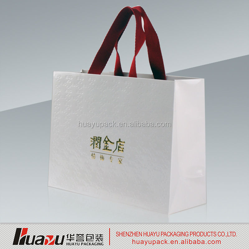 FLeece shipping paper bag with free logo print & free sample